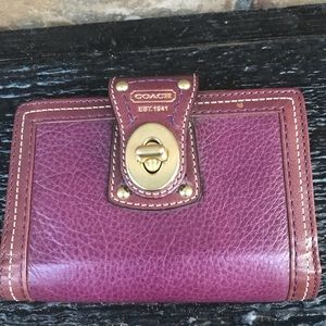 Coach smalll address book wallet with pen